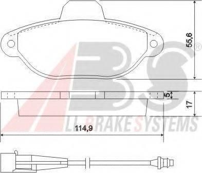 A.B.S. 37896 Комплект тормозных колодок, дисковый тормоз