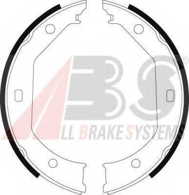 A.B.S. 8973 Комплект тормозных колодок, стояночная тормозная система