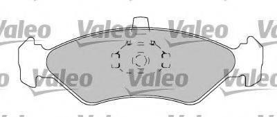 VALEO 597567 Комплект тормозных колодок, дисковый тормоз