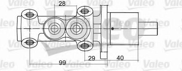 VALEO 402093 Главный тормозной цилиндр