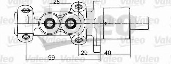 VALEO 402094 Главный тормозной цилиндр