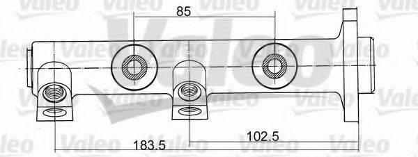 Главный тормозной цилиндр VALEO 350471