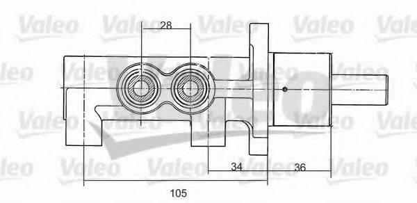 VALEO 350867 Главный тормозной цилиндр