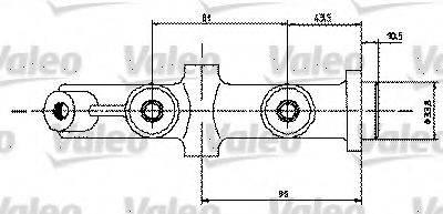VALEO 350454 Главный тормозной цилиндр