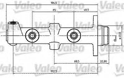 VALEO 350686 Главный тормозной цилиндр