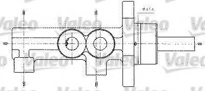 VALEO 402272 Главный тормозной цилиндр