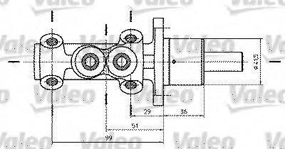 VALEO 402322 Главный тормозной цилиндр