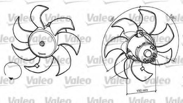 VALEO 696049 Вентилятор, охлаждение двигателя