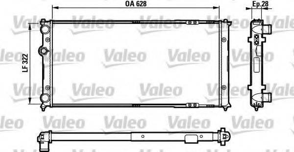 Радиатор, охлаждение двигателя VALEO 731728