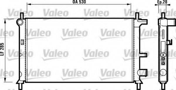 Радиатор, охлаждение двигателя VALEO 731735