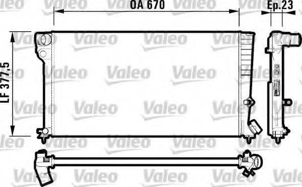 Радиатор, охлаждение двигателя VALEO 731744
