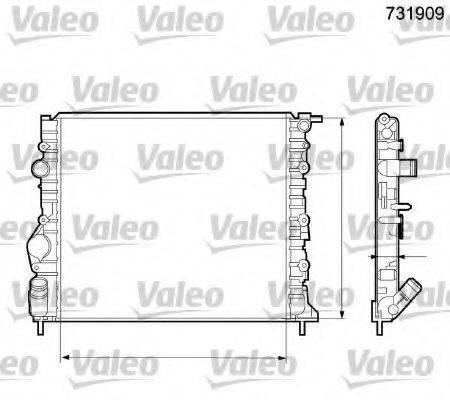 Радиатор, охлаждение двигателя VALEO 731909