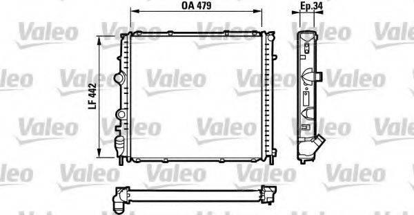 Радиатор, охлаждение двигателя VALEO 731910