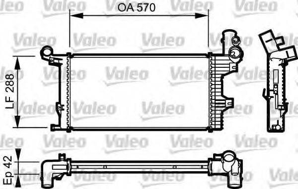 Радиатор, охлаждение двигателя VALEO 732303