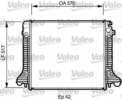 Радиатор, охлаждение двигателя VALEO 732304
