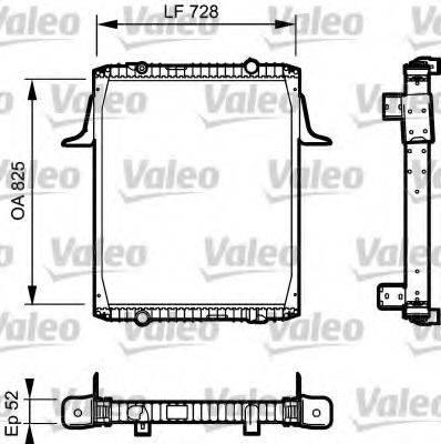 Радиатор, охлаждение двигателя VALEO 732329