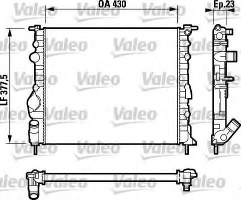 Радиатор, охлаждение двигателя VALEO 732389