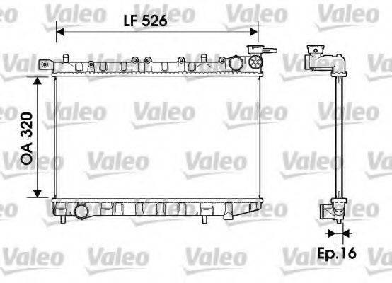 Радиатор, охлаждение двигателя VALEO 732405