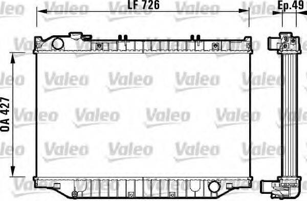 Радиатор, охлаждение двигателя VALEO 732415