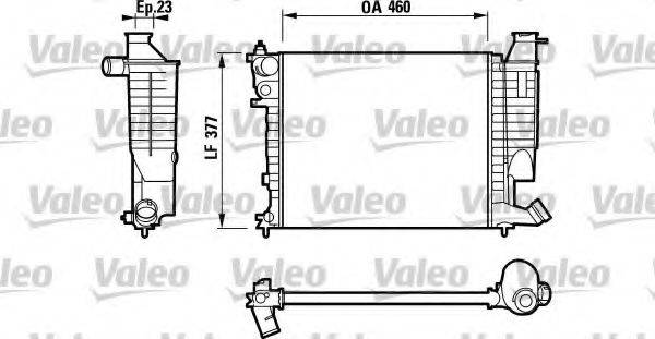 Радиатор, охлаждение двигателя VALEO 732534