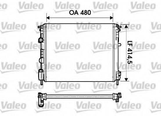 Радиатор, охлаждение двигателя VALEO 732621
