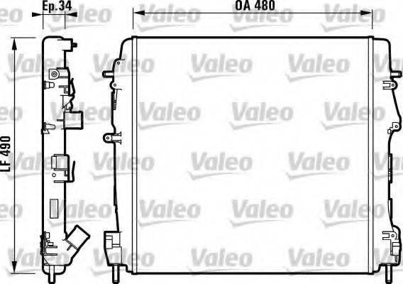 Радиатор, охлаждение двигателя VALEO 732717