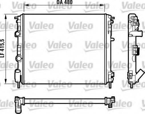 Радиатор, охлаждение двигателя VALEO 732720