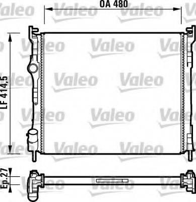 Радиатор, охлаждение двигателя VALEO 732737
