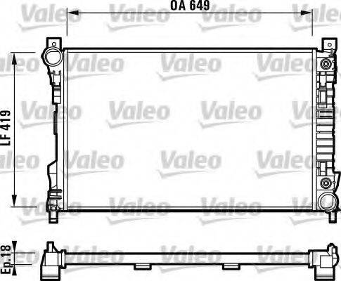 Радиатор, охлаждение двигателя VALEO 732740