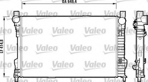 Радиатор, охлаждение двигателя VALEO 732742