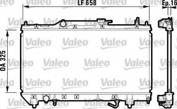 Радиатор, охлаждение двигателя VALEO 732753