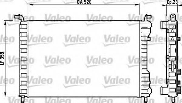 Радиатор, охлаждение двигателя VALEO 732812