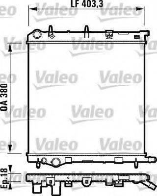 Радиатор, охлаждение двигателя VALEO 732831