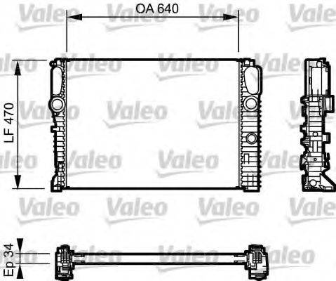 Радиатор, охлаждение двигателя VALEO 732849
