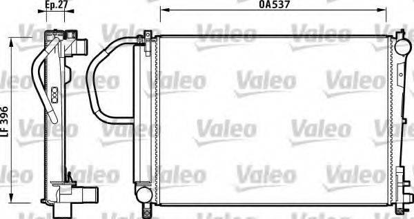 Радиатор, охлаждение двигателя VALEO 732883
