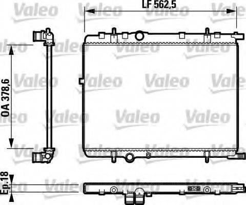 Радиатор, охлаждение двигателя VALEO 732890