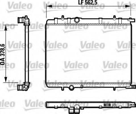 Радиатор, охлаждение двигателя VALEO 732892
