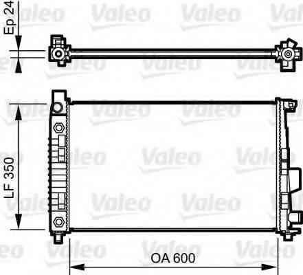 Радиатор, охлаждение двигателя VALEO 732897