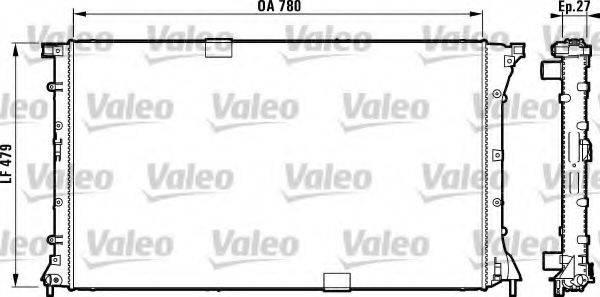 Радиатор, охлаждение двигателя VALEO 732911
