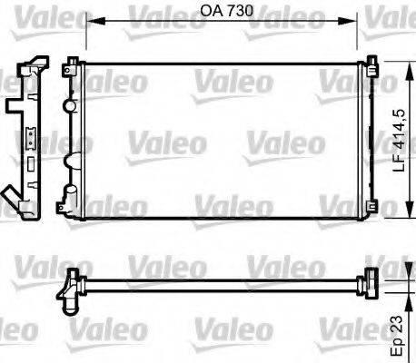 Радиатор, охлаждение двигателя VALEO 732917