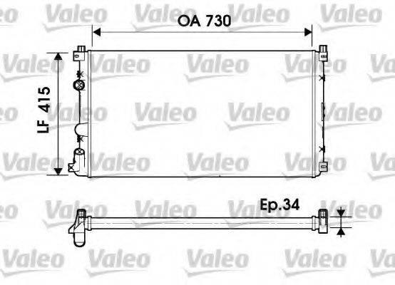 Радиатор, охлаждение двигателя VALEO 732918