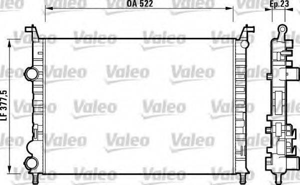 Радиатор, охлаждение двигателя VALEO 732948