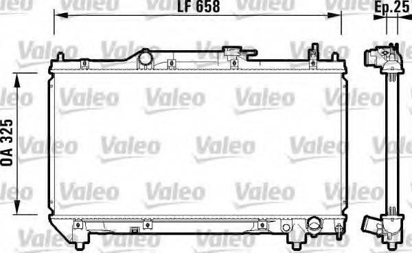 Радиатор, охлаждение двигателя VALEO 732951