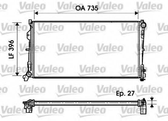 Радиатор, охлаждение двигателя VALEO 732956