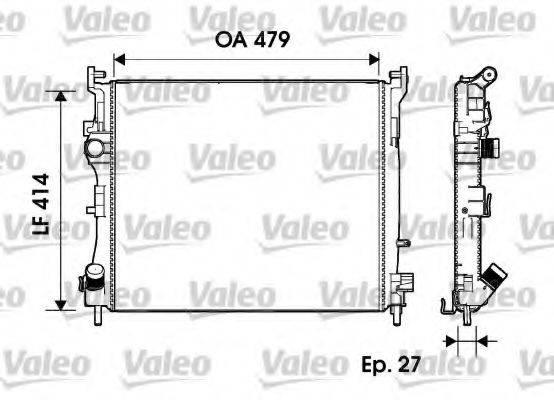 Радиатор, охлаждение двигателя VALEO 732960