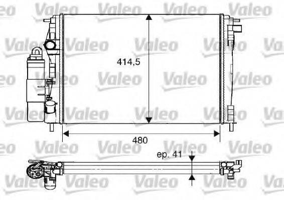 модуль охлаждения VALEO 733075
