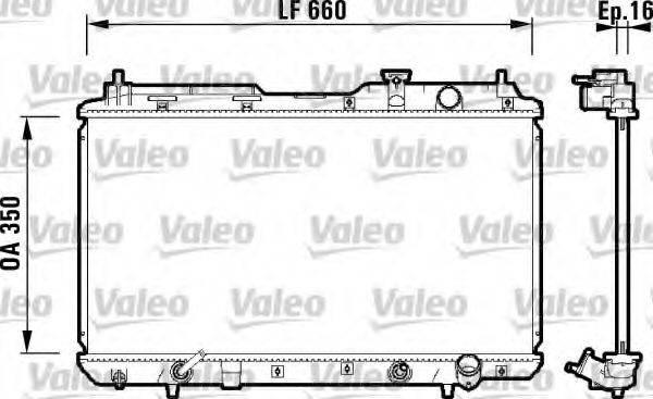 Радиатор, охлаждение двигателя VALEO 734110