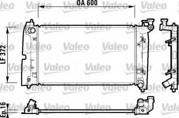 Радиатор, охлаждение двигателя VALEO 734200