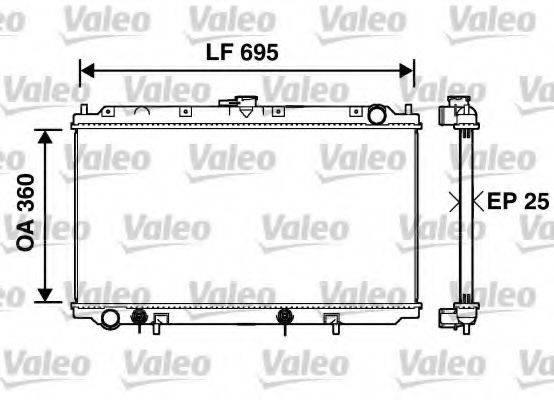 Радиатор, охлаждение двигателя VALEO 734215