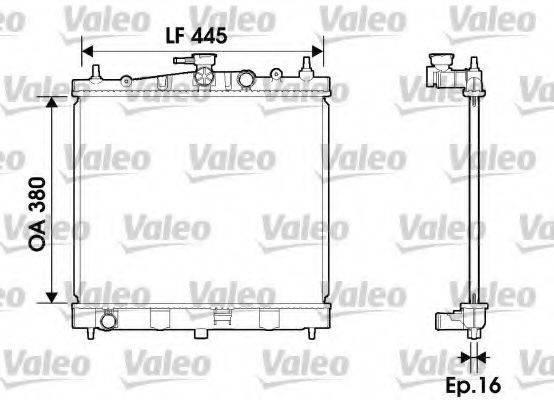 Радиатор, охлаждение двигателя VALEO 734246